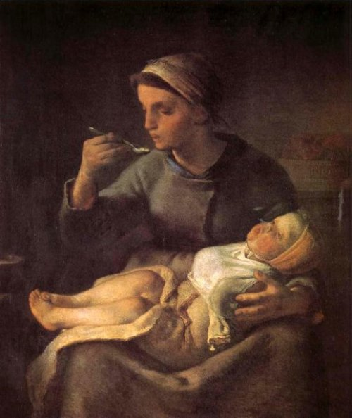 Woman Feeding The Child