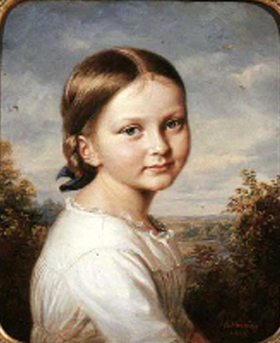 Young Girl In A White Dress