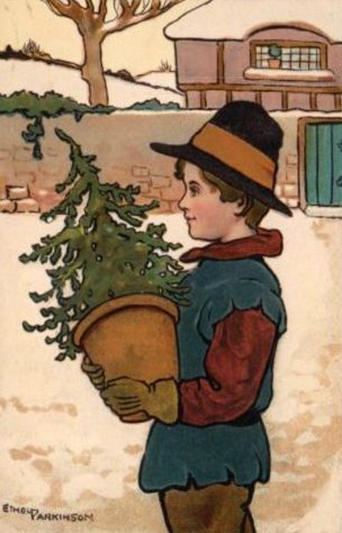 Boy With A Christmas Tree