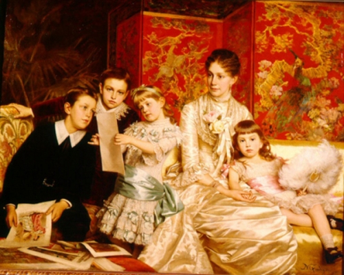Cornelia Ward Hall And Her Children