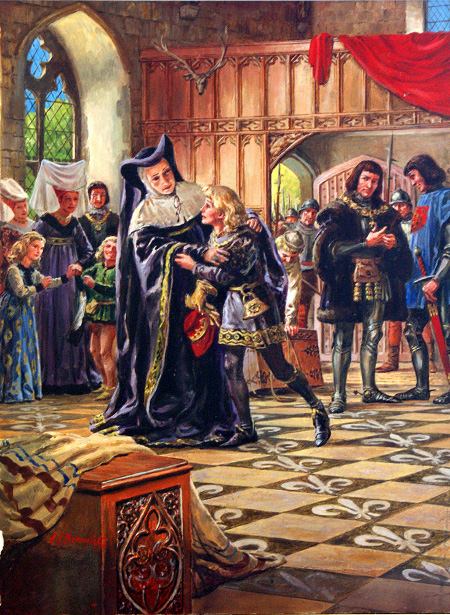 Edward V Being Handed Over To The Duke Of Gloucester