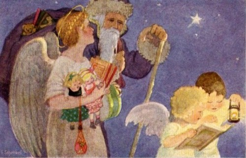 Father Christmas With Angels