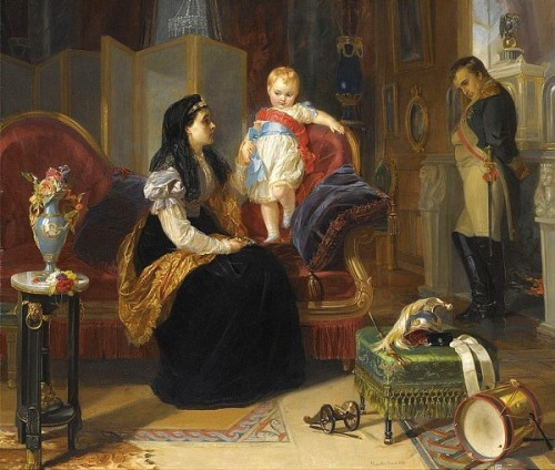 First Interview Of The Divorced Empress Josephine With The King Of Rome
