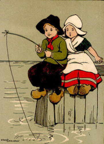 Fishing Boy And Girl