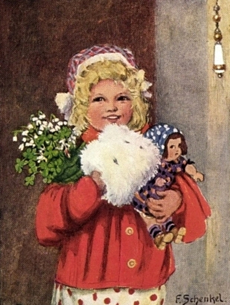 Happy New Year! - Girl With Muff And Doll