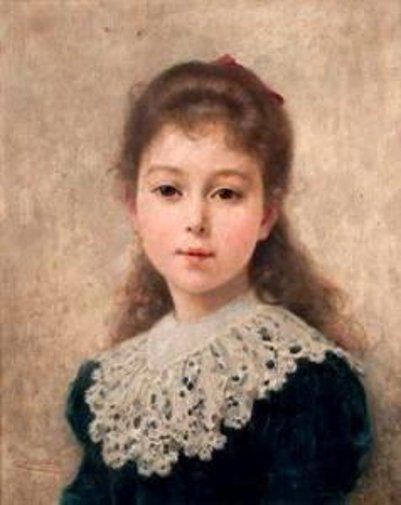 Portrait de jeune fille en buste