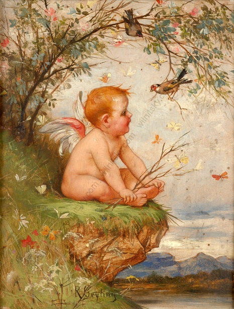Putto In Landscape