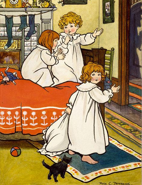 Three Children On Christmas Eve