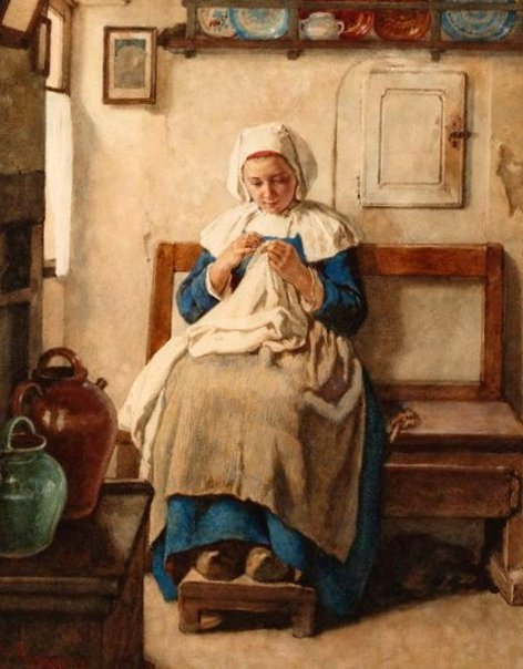 Breton Peasant Girl