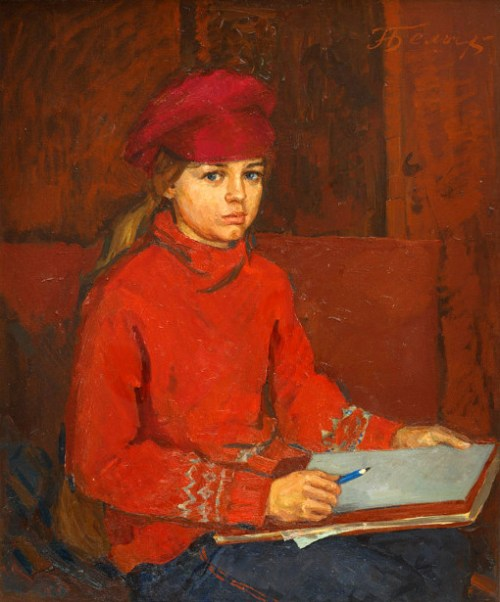 Luba - Portrait Of The Artist's Daughter