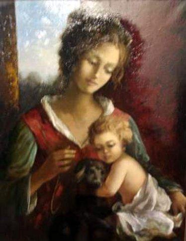 Maternité au chien