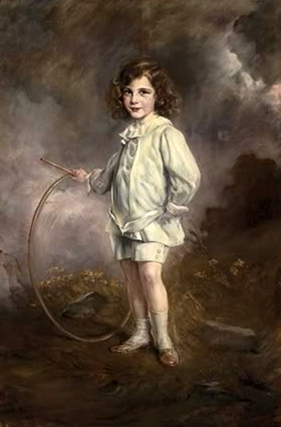 Nathaniel Mayer Victor Rothschild Holding A Hoop