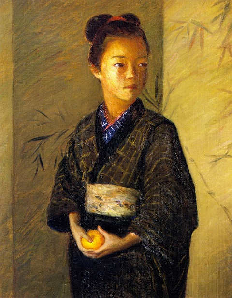 A Young Girl With An Orange