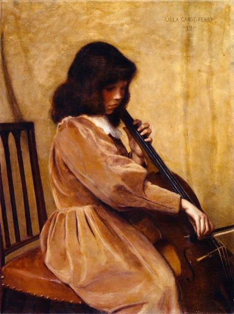 Girl Playing A Cello