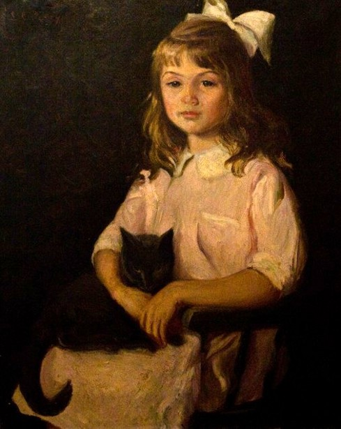The Artist's Daughter With A Cat