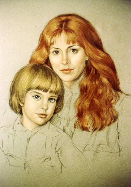 Eva Bergmanova And Son