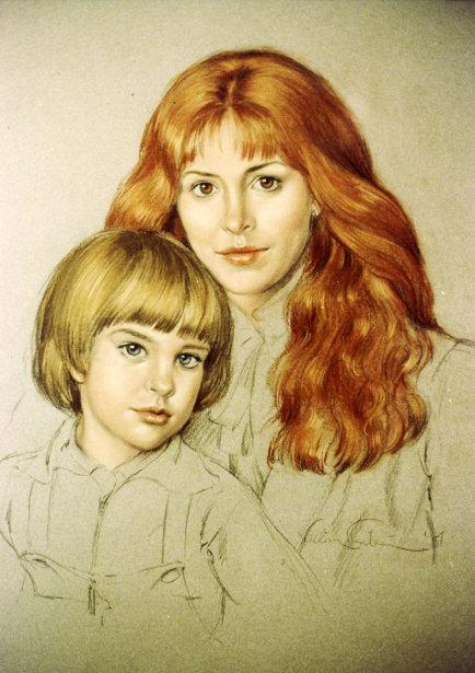 Eva Bergmanova And Son