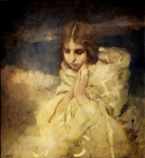 Giovane che prega