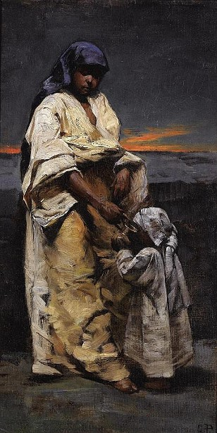 Mother And Child - Evening Desert
