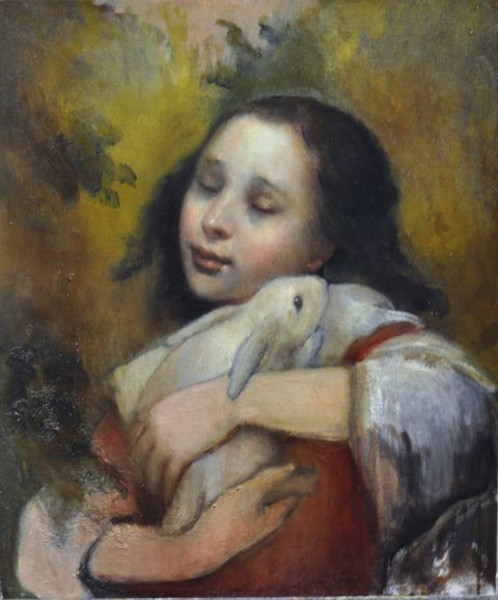 My Daughter With Rabbit