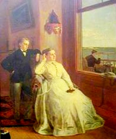 Waiting For Father's Return - Mrs. W.C.N. Swift (Eliza Nye Perry) And Hers Sons Fredrick And Franklin